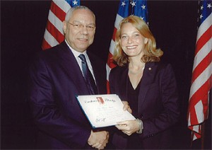 Farewell Dinner in Philadelphia, May 2008, with EF Chairman Colin L. Powell