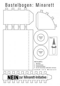 Bastelbogen Minarett